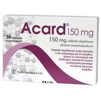 Acard, 150mg, 30 tabletek - Długi termin ważności! DARMOWA DOSTAWA od 39,99zł do 2kg! (5909991290290)