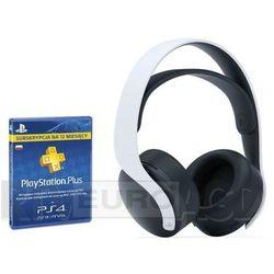 playstation 5 bezprzewodowy zestaw słuchawkowy pulse 3d + subskrypcja playstation plus 12mcy marki Sony