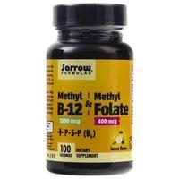 Pastylki Jarrow Formulas Methyl B12 1000 mcg + Methyl Folate 400 mcg - 100 pastylek