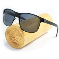 Drewniane okulary przeciwsłoneczne Niwatch Cetus Black