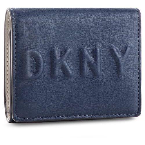 01715f916d236 DKNY Mały portfel damski - tilly trifold wallet r741v100 navy nvy Dkny