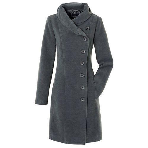 Bonprix Krótki płaszcz antracytowy melanż