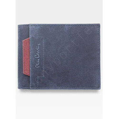 fce0c49c51bb6 Modny portfel męski oryginalny skórzany vo02 8806 - niebieski + czerwony  marki Pierre cardin