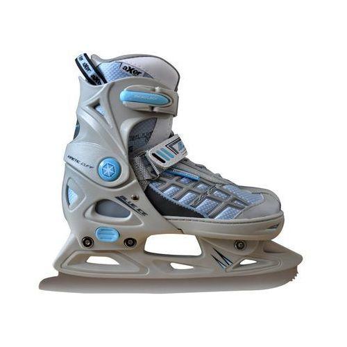 Łyżwy figurowe regulowane a2965 blue ice (rozmiar l) + Axer sport