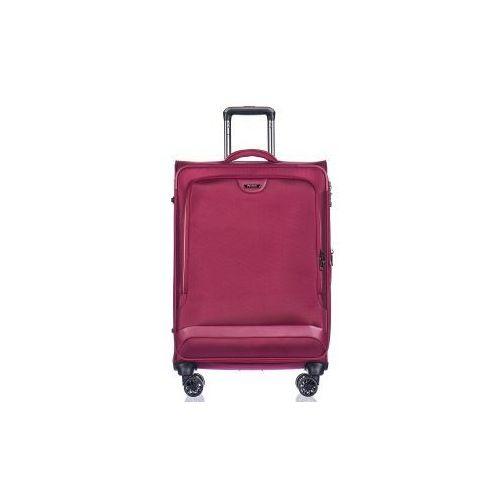 PUCCINI walizka średnia EM50420 z kolekcji COPENHAGEN 4 koła miękka zamek szyfrowy TSA nylon poszerzenie, EM 50420 B