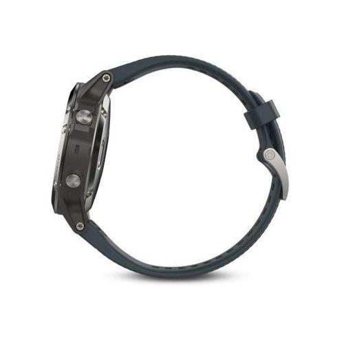 Zegarek sportowy Garmin Fenix 5 (srebrny z grafitowym paskiem)
