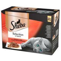SHEBA Selection in Sauce Soczyste Smaki 16x85g + 8szt. + miska GRATIS!