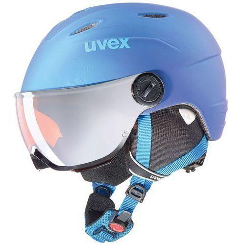 Uvex Dziecięcy kask narciarski junior visor pro granatowy 566/191/4303 52-54 s