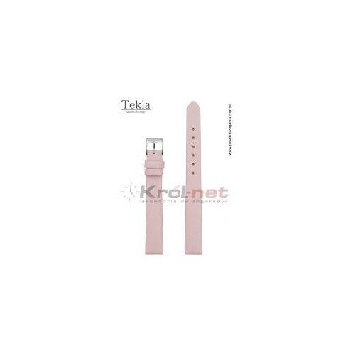 Pasek do zegarka tk126roz/12 - gładki, różowy marki Tekla