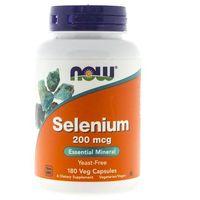 Now Foods Selen (Selenium) 200 mcg - 180 kapsułek