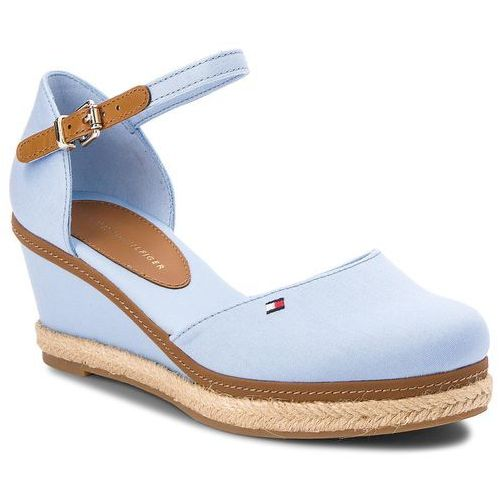 2c53b88c420fb Espadryle TOMMY HILFIGER - Iconic Elba Basic Closed Toe FW0FW02838 Chambray  Blue 407 - zdjęcie produktu