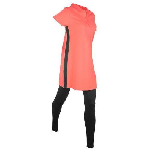 2ab0b3c16c Zobacz ofertę Długi shirt polo z bawełny pique   43  legginsy  mandarynkowo-czarny
