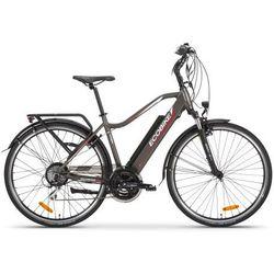 Rower elektryczny livigno brązowy marki Ecobike