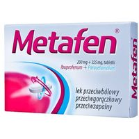 Tabletki Metafen tabl.powl. 0,2g+0,325g 10tabl.(bli