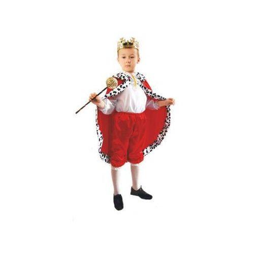 Kostium Król czerwony rozmiary: od 110 do 140 cm - S, M, L - S - 110/116 cm (5908260217181)