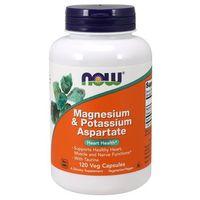 Minerały NOW FOODS Mangesium & Potassium Aspartate with Taurine 120vcaps Najlepszy produkt