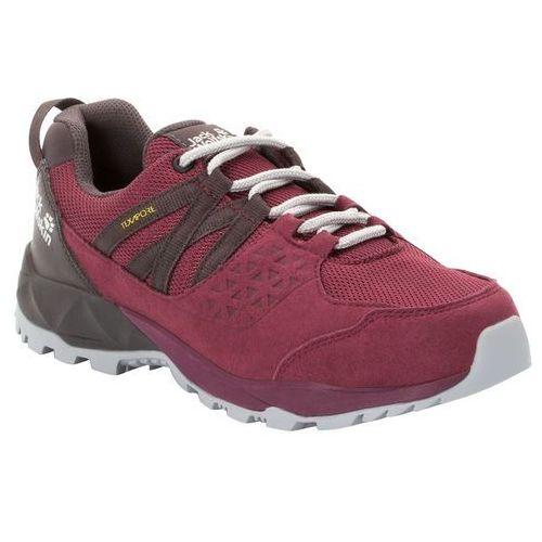 Damskie buty trekkingowe cascade hike texapore low w burgundy / dark steel - 6,5 marki Jack wolfskin