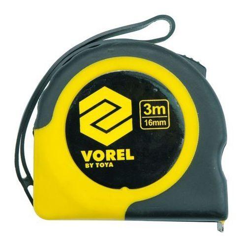 Miara zwijana żółto-czaran 7,5 m x 25 mm Vorel 10109 - ZYSKAJ RABAT 30 ZŁ (5906083101090)