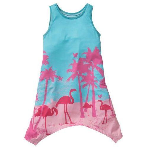 54f9a2dbe0 ▷ Sukienka z dłuższymi bokami morsko-różowy flaming dr (bonprix ...