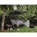 Huśtawka ciemnoszara - meble ogrodowe - stal - ławka - TEMPLE
