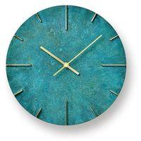 Zegar ścienny Quaint rdzawozielony, kolor Zegar