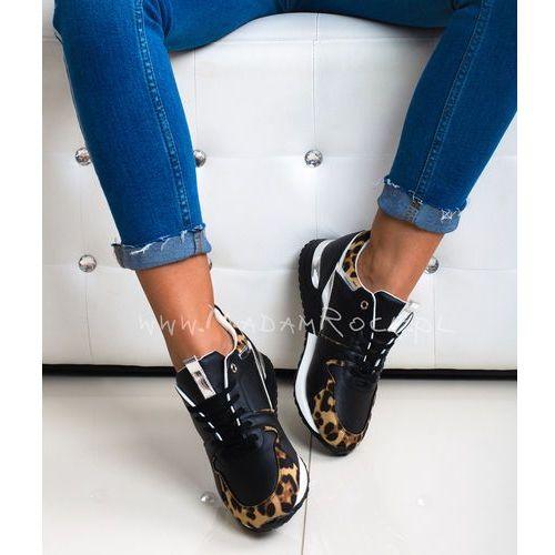 Sneakersy Rock Run Away II Panterka czarne, 1246 19009 BLACK