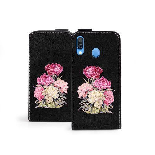 Samsung Galaxy A40 - etui na telefon Flip Fantastic - różowy bukiet, kolor różowy
