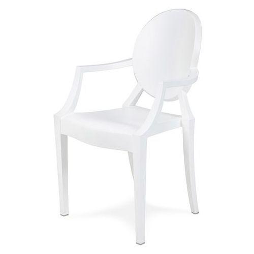 Krzesło louis mat białe pc-099p.bialy - - sprawdź kupon rabatowy w koszyku marki King home