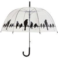 Esschert Design Parasolka Birds on a Wire, transparentny, TP166 (8714982106354)