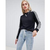adidas Originals Three Stripe Sweatshirt In Black - Black