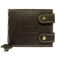 Portfel skórzany z łańcuchem always wild 2900-bic brązowy