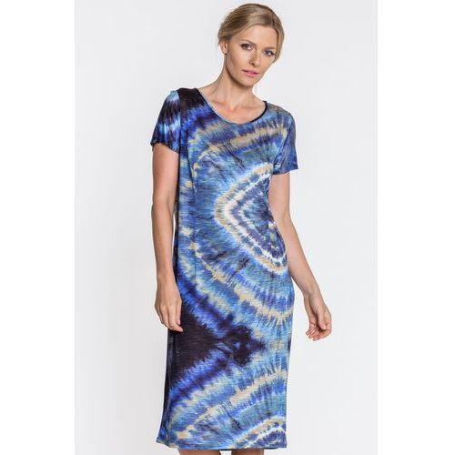 02943480506068 Zobacz w sklepie Sukienka w batikowy wzór - Topsi, kolor niebieski