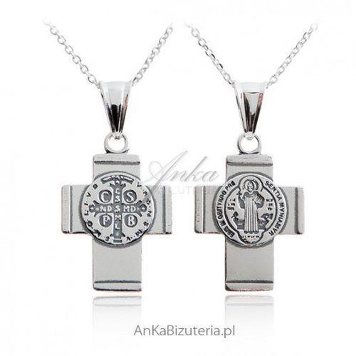 Ankabizuteria.pl dewocjonalia: krzyż św. benedykta - srebro marki Anka biżuteria