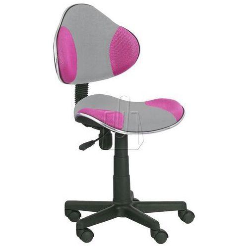 Halmar Fotel młodzieżowy flash 2 szaro-różowy
