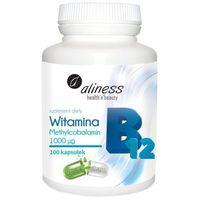 Witamina B12 Methylcobalamin 1000µg 100 kaps. - wysoka dawka – Aliness