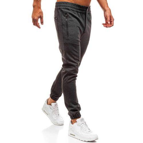 Spodnie dresowe baggy męskie antracytowe denley 1030 (JACK BERRY)