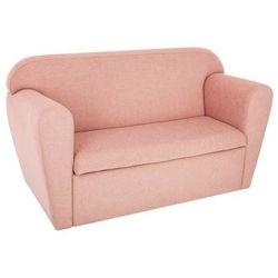 Atmosphera créateur d'intérieur Sofa dwuosobowa ze schowkiem na zabawki - kolor różowy, 80 x 35 x 45 cm
