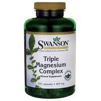 Kapsułki Swanson Triple Magnesium Complex (Kompleks 3 Magnezów) 300 kaps.