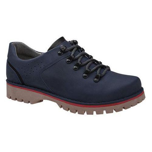 Półbuty buty trekkingowe KORNECKI 5330 Granatowe - Granatowy, kolor niebieski