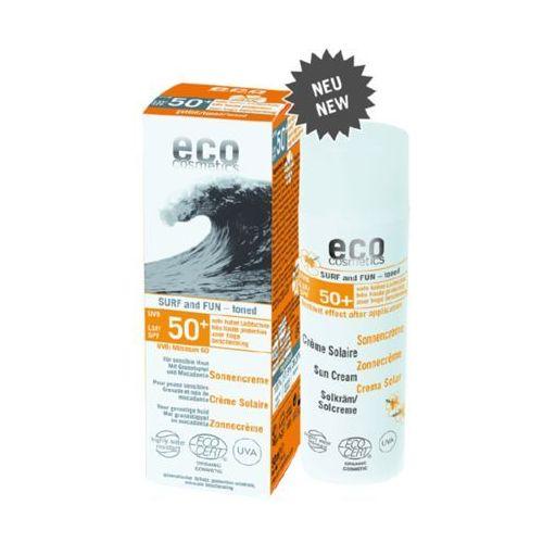 Surf & fun tonowany krem na słońce lsf/spf 50+ z owocem granatu i olejem z makadamii marki Eco cosmetics
