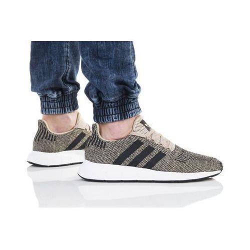 adidas Originals SWIFT RUN Tenisówki i Trampki raw gold/core black/footwear white, kolor czarny