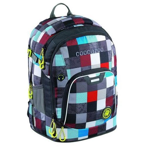 CoocaZoo plecak szkolny Coocazoo RayDay, Checkmate Blue Red (4047443379269)