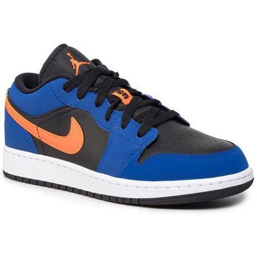 Buty - air jordan 1 low (gs) 553560 480 rush blue/brillant orange marki Nike