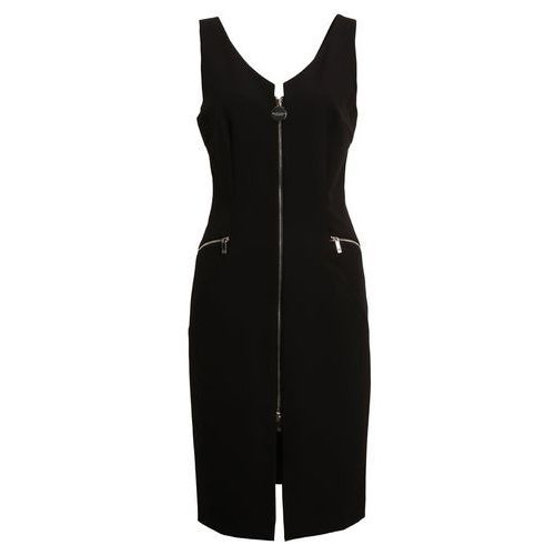 Guess Marciano los angeles sleeveless zipper sukienka koktajlowa jet black