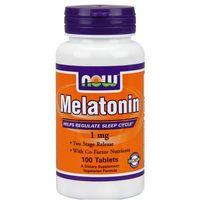 Tabletki Now Foods Melatonina 1mg + Niacyna 100mg 100 tabl.
