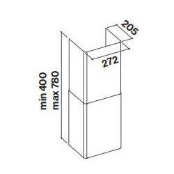 Komin Falmec Tab 60/80 - Biały - Niski koszt dostawy! Pomoc specjalisty: 661 117 112, towar z kategorii: Kominy wentylacyjne