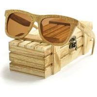 Drewniane okulary przeciwsłoneczne Niwatch Dorado Brown