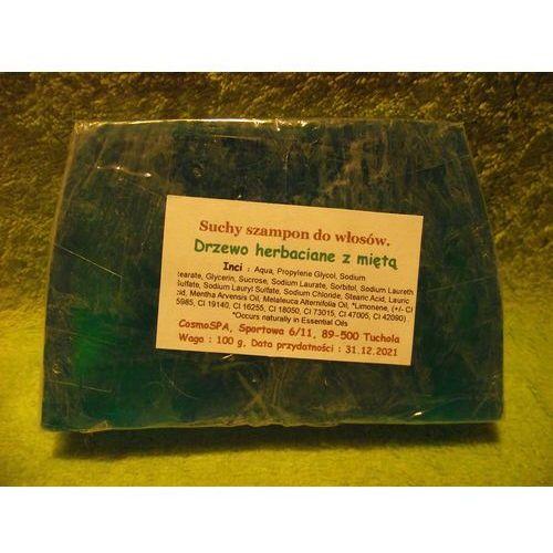 CosmoSPA- TWARDY Szampon do włosów - Przeciwłupieżowy Drzewo herbaciane i mięta 100 g