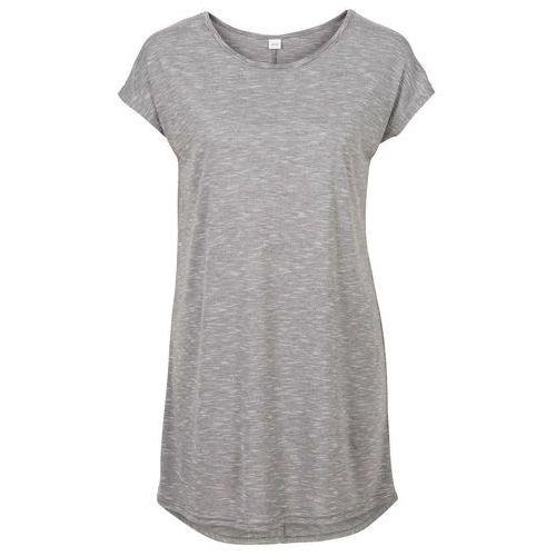 Długi shirt szaro-kolorowy, Bonprix, 32-54