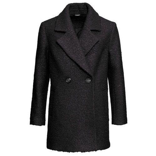 Krótki płaszcz oversized bonprix czarny, kolor czarny